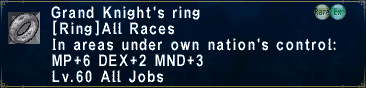Grand Knight's Ring