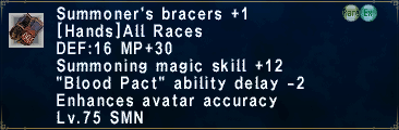 Summoner's Bracers+1