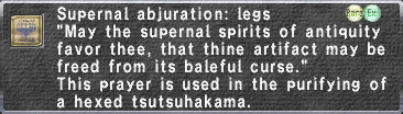 Supernal Abjuration: Legs