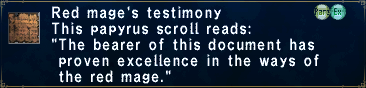 Red Mage's Testimony